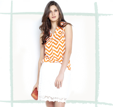 Lookbook Chevron em Cores